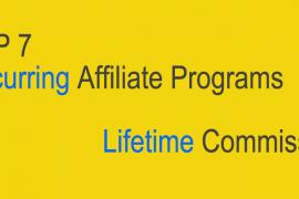 推荐7个很好的国外Recurring Affiliate Programs获得持续收入