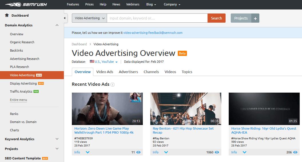 视频广告概览
